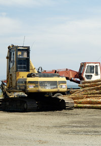 busy lumber mill